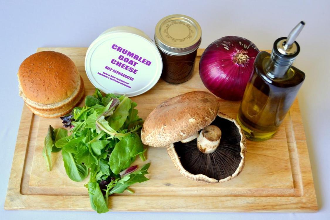 Tattooed Martha - Balsamic Vinaigrette Portobello Mushroom Burgers (2)