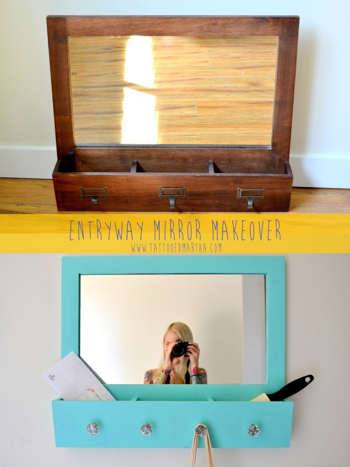 Tattooed Martha - Entryway Mirror Makeover (1)
