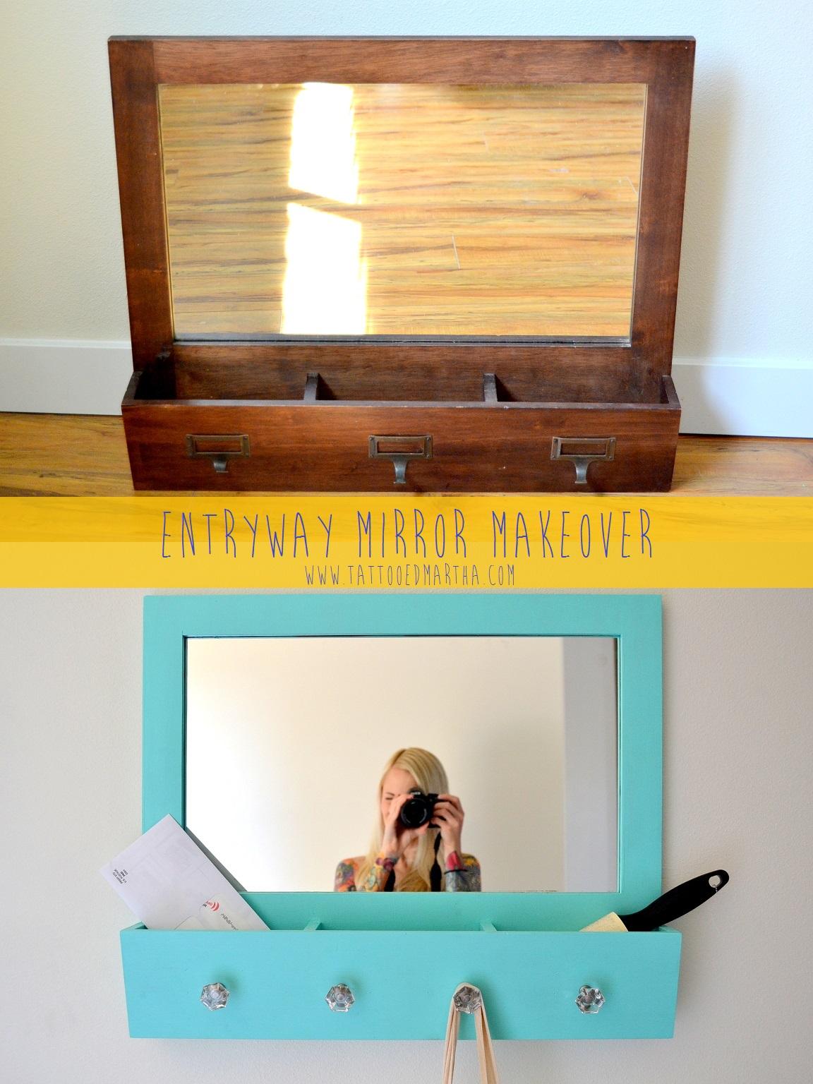 Entryway Mirror Makeover