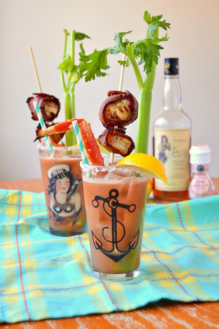 Surf and Turf Bloody Marys