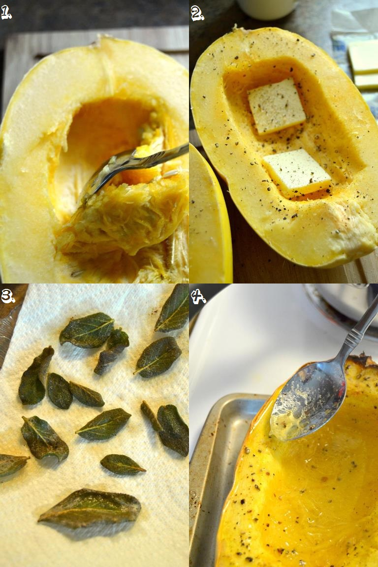 Tattooed Martha - Roasted Spaghetti Squash with Brown Butter, Garlic, and Sage (2)