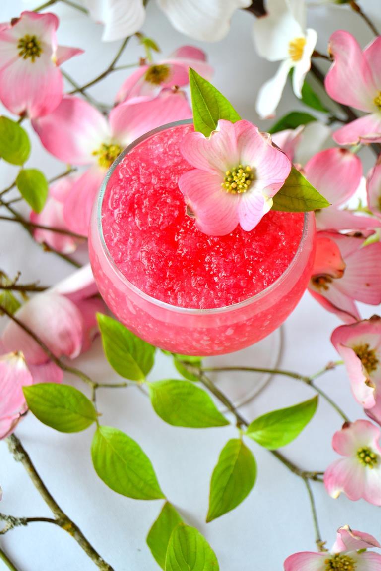 Spring Blossom Granita Cocktail