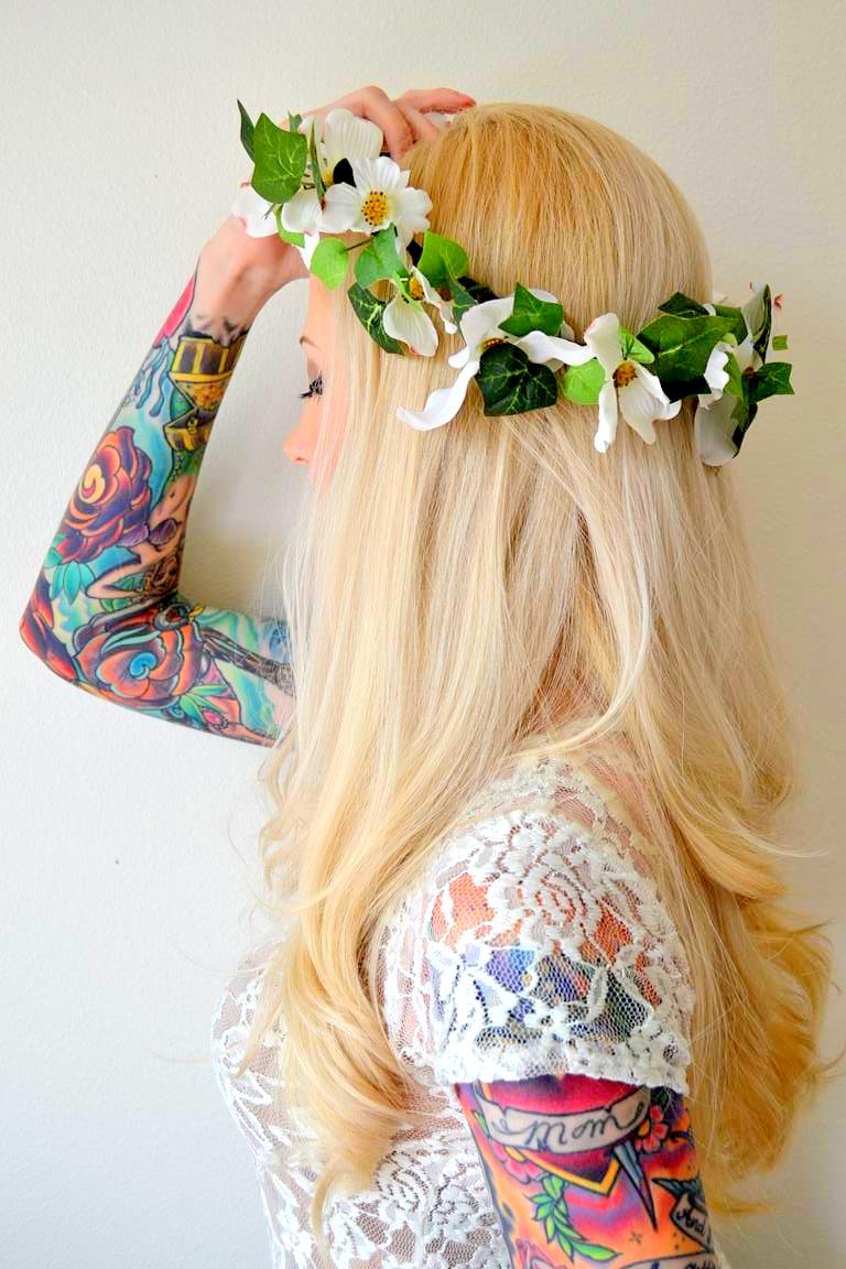 Tattooed Martha - DIY Summer Flower Crown (8)
