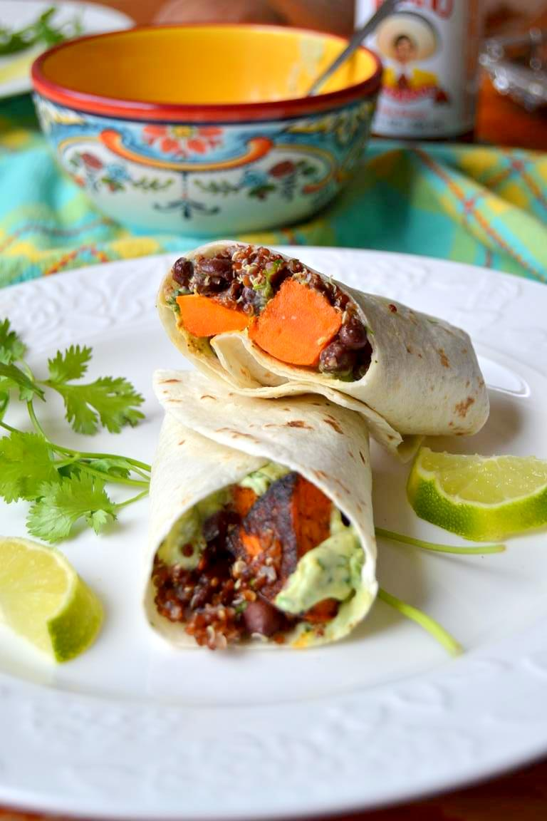 Tattooed Martha - Roasted Sweet Potato and Black Bean Breakfast Burritos (6)