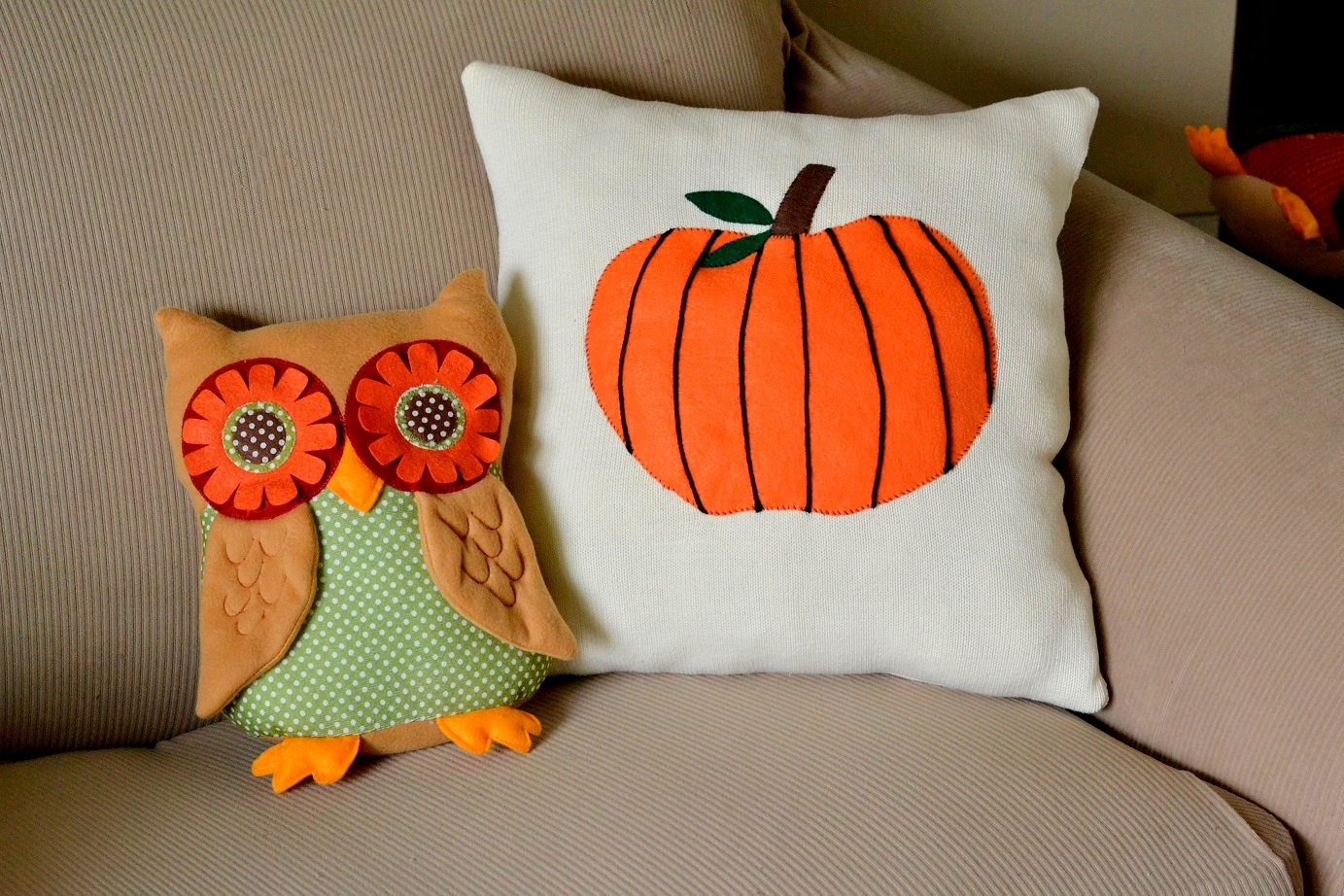 Pumpkin Patch Sweater Pillow