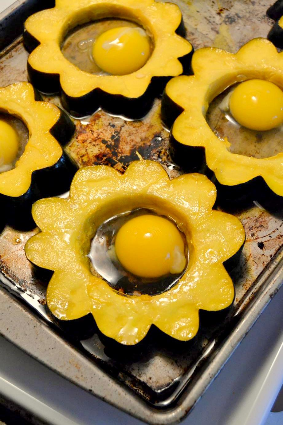 Tattooed Martha - Sunny Side Up Stuffed Acorn Squash Rings (2)