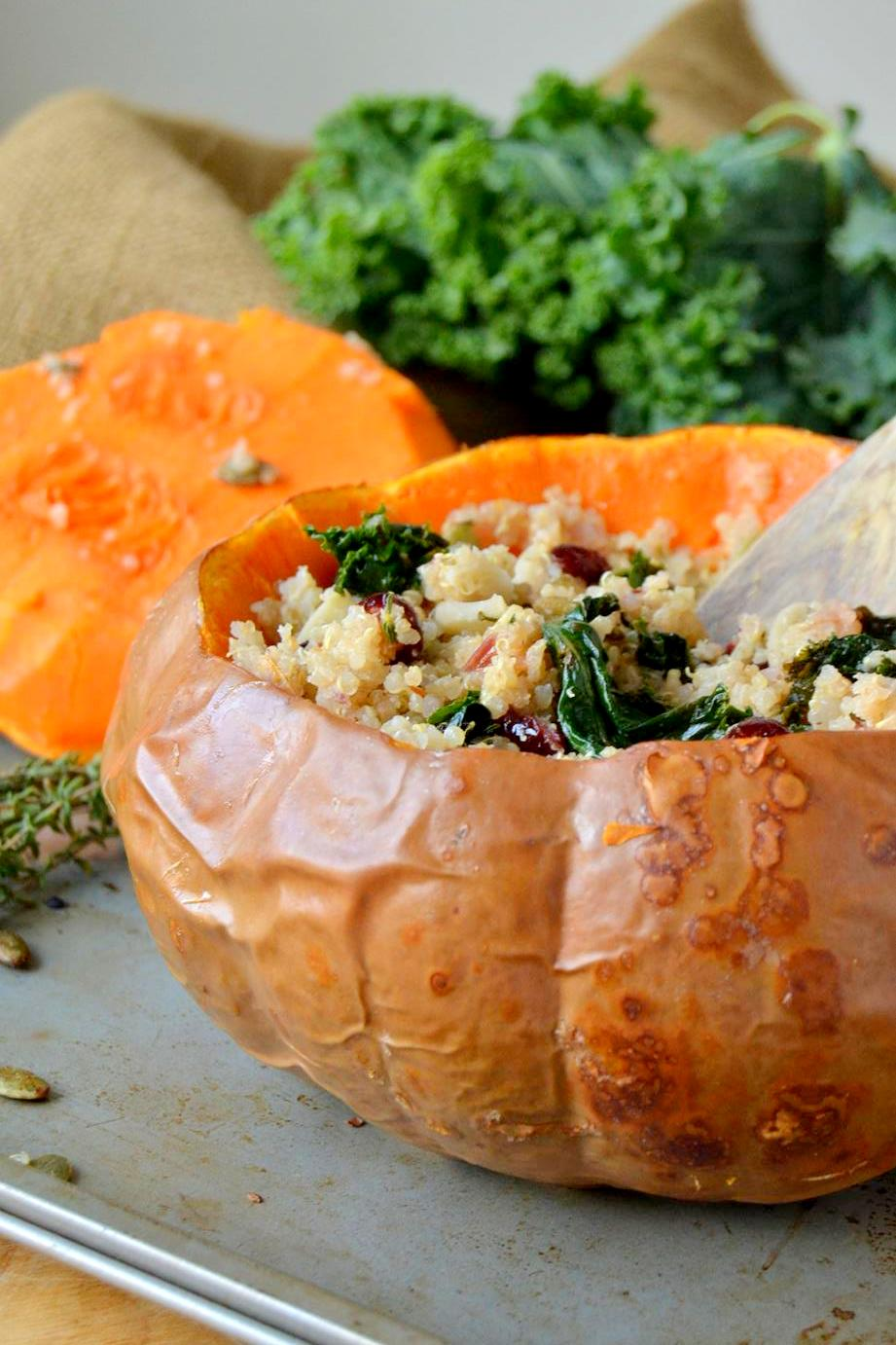 Tattooed Martha - Quinoa Cranberry Stuffing in Butterkin Squash (13)