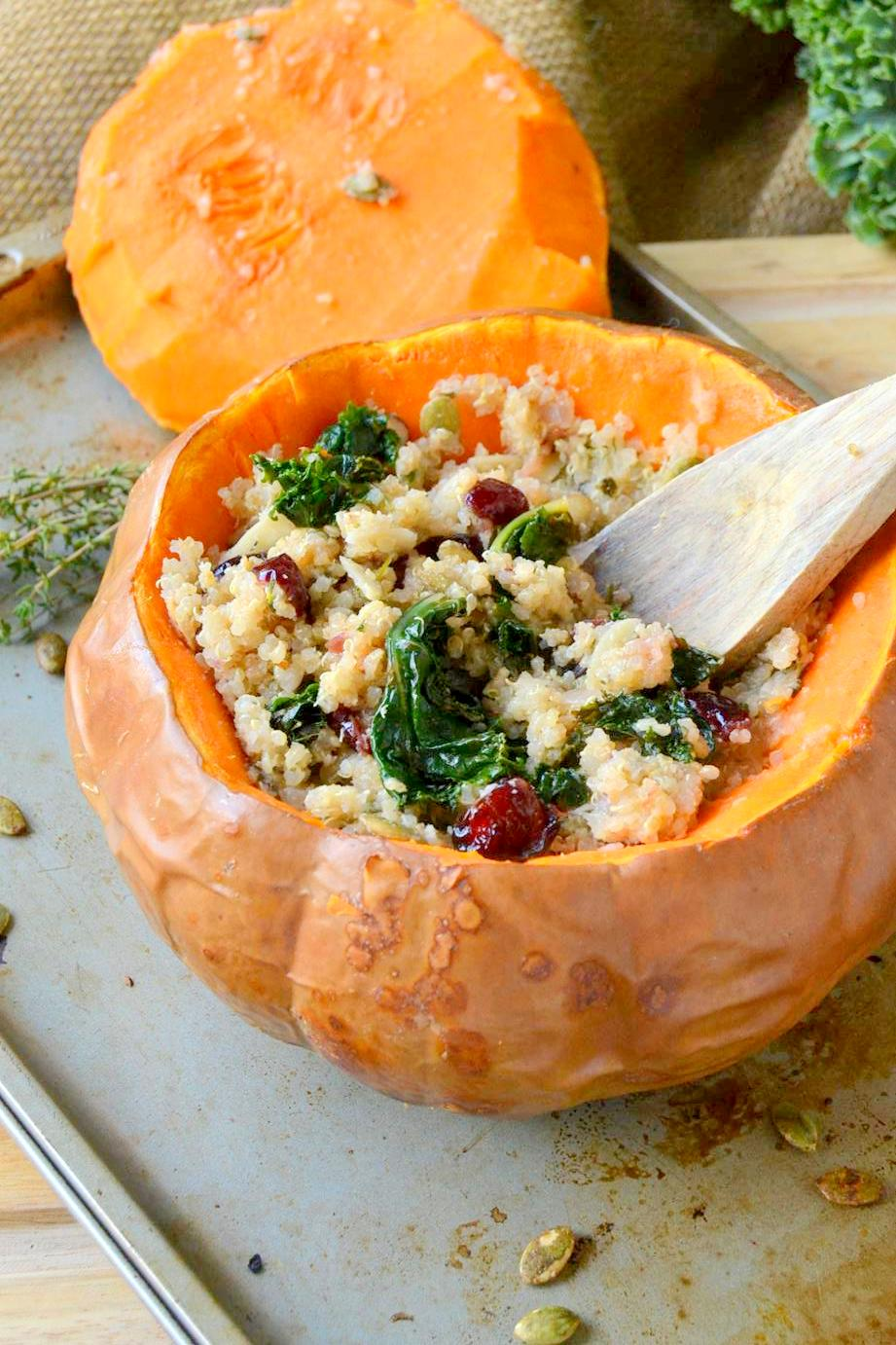 Tattooed Martha - Quinoa Cranberry Stuffing in Butterkin Squash (9)