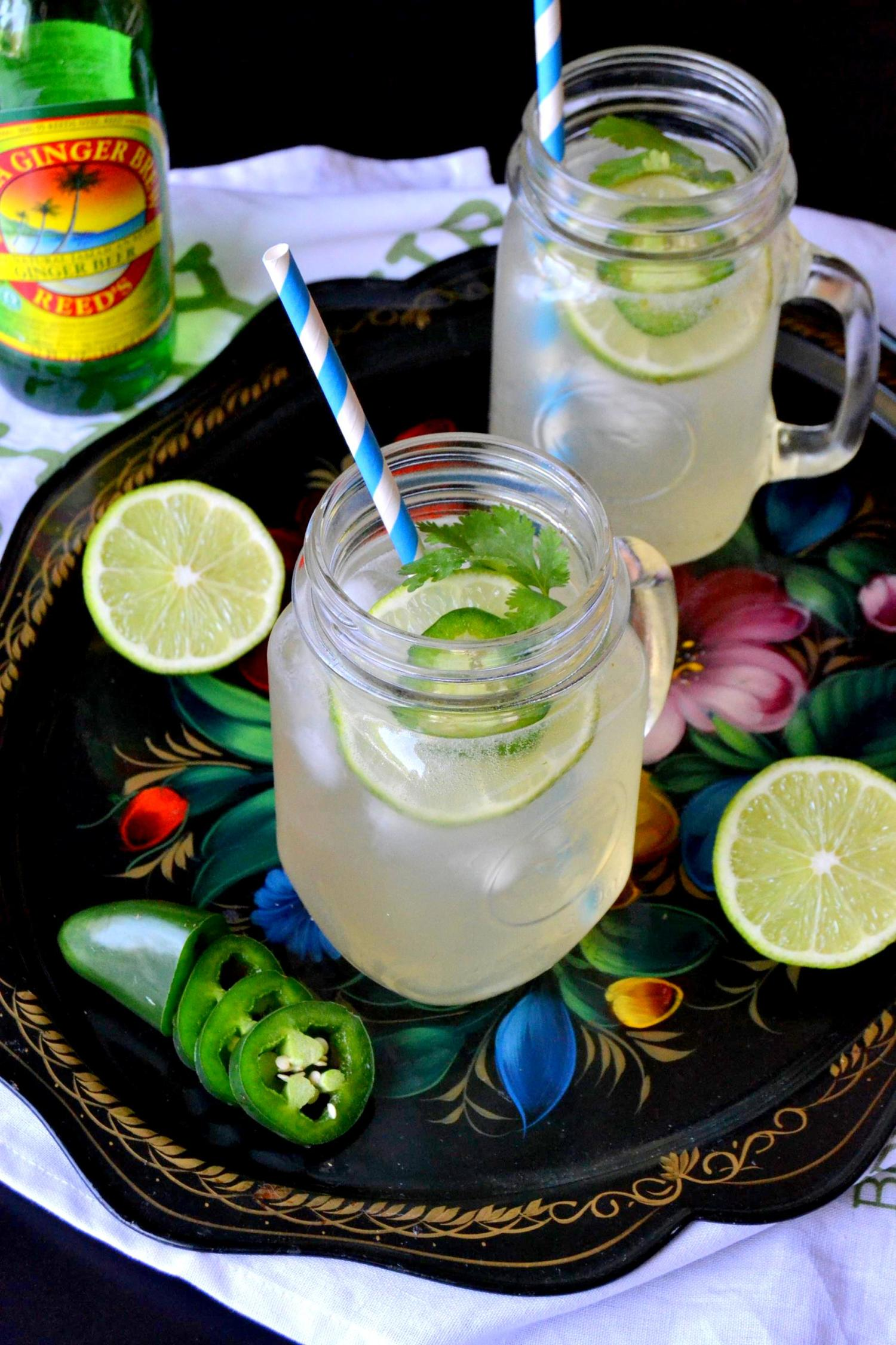 Spicy Cilantro Lime Cocktail