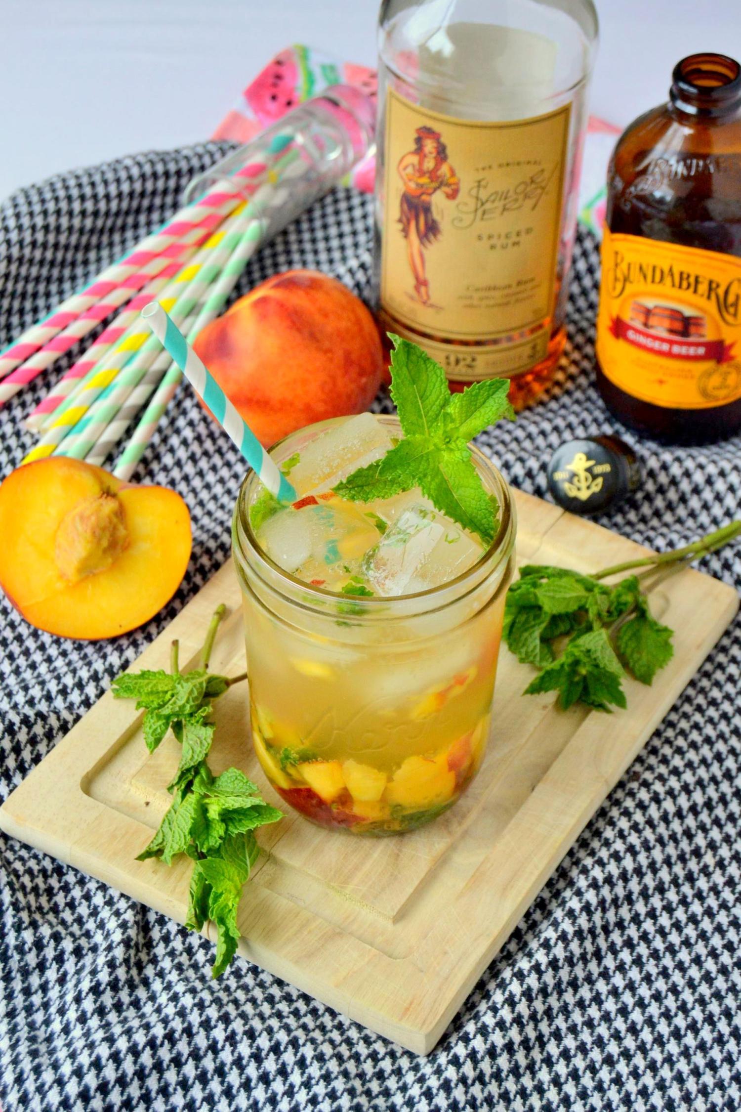 Rum Peach Smash