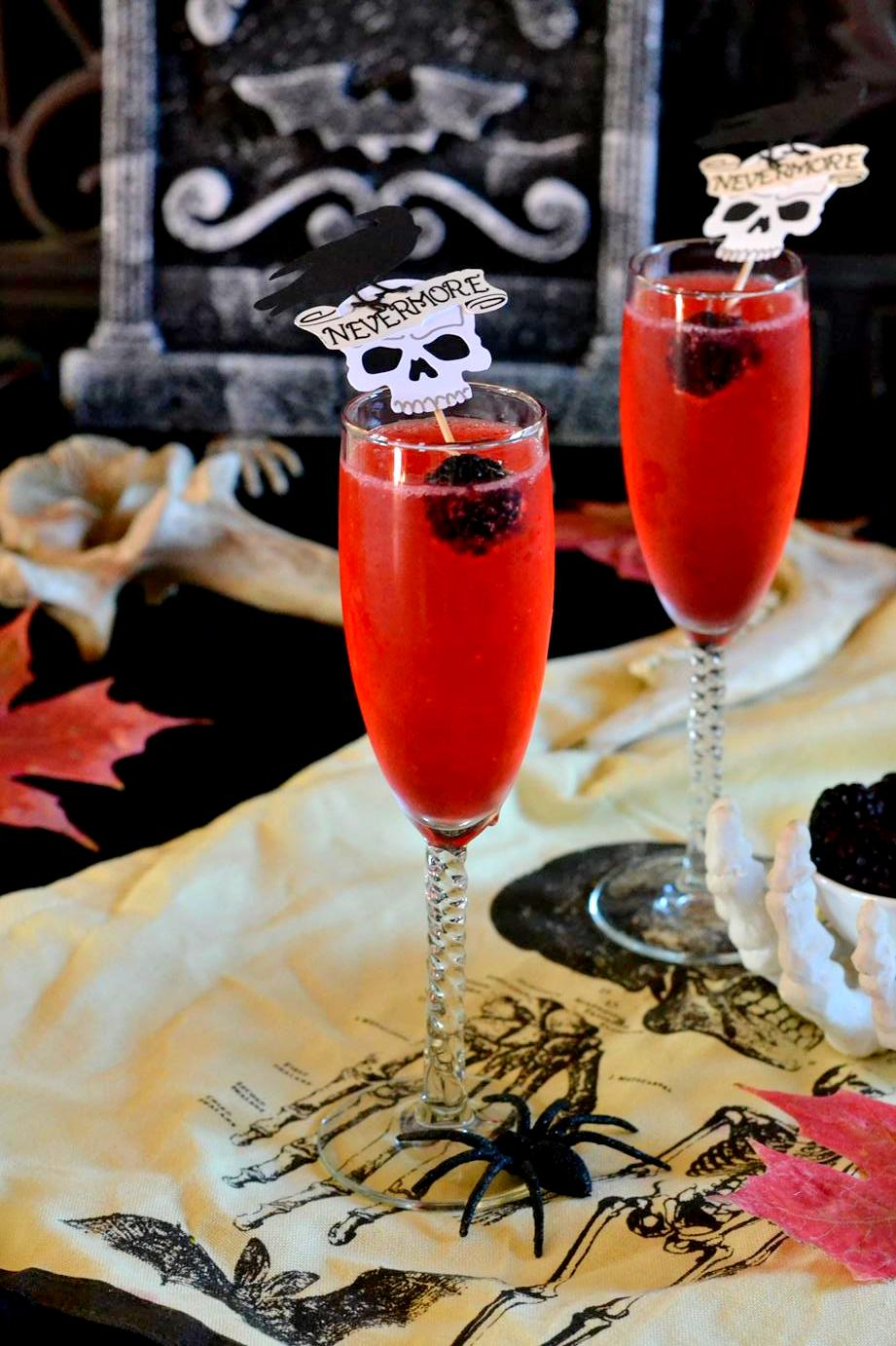 Blackberry Champagne Cemetery Sipper