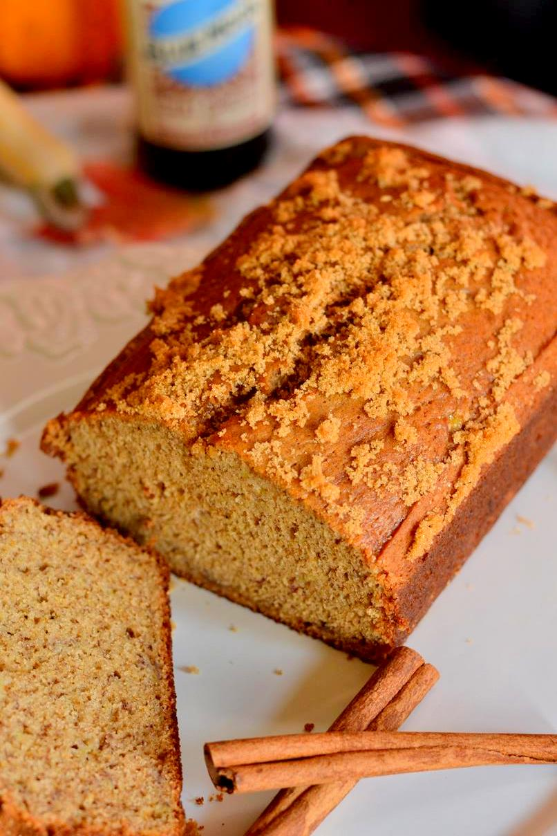 Chai Spiced Banana Beer Bread on www.TattooedMartha.com