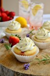 Strawberry Lemonade Cupcakes with Lavender Buttercream Frosting