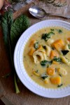 Creamy Butternut Squash and Kale Tortellini Soup