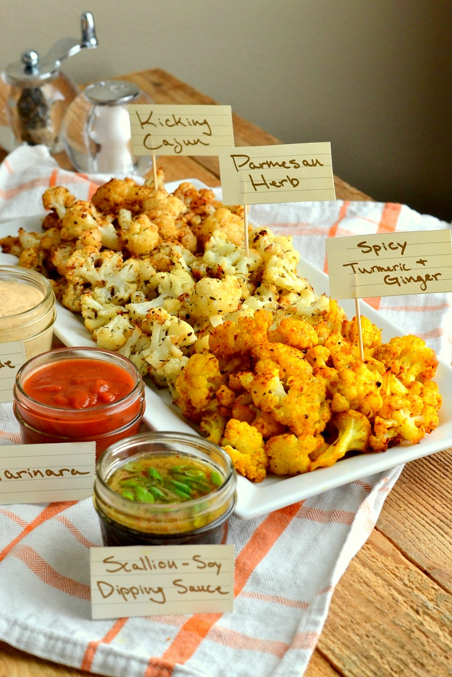 Roasted Cauliflower 3 Ways