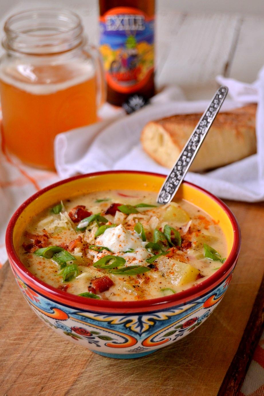 Loaded Baked Potato IPA Soup