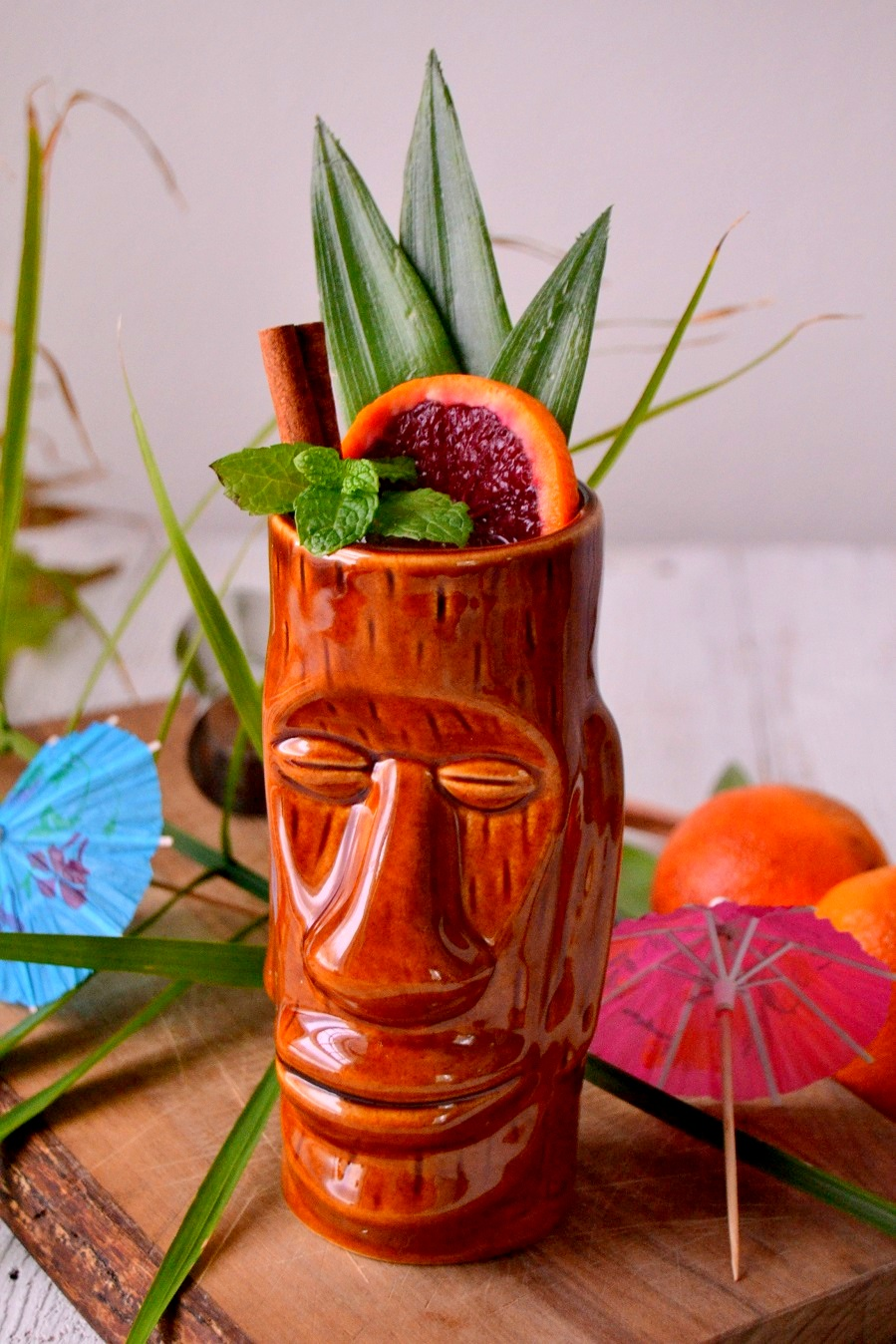 Blood Orange Cinnamon Mai Tai