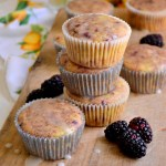 Fair Robin Revival - Blackberry Vanilla Chai Muffins with Lemon Glaze