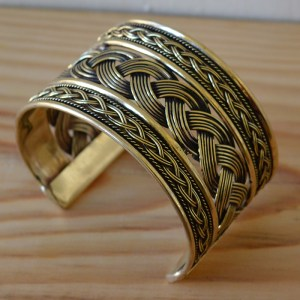 Fair Trade Brass plaited cuff JCbp1