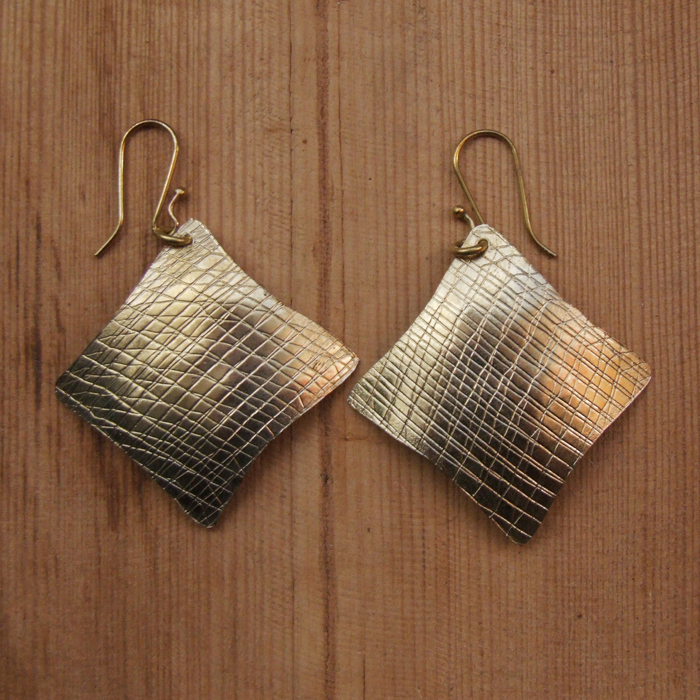 Fair Trade Brass diamond earrings JEMB13