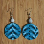 Fair Trade Fabric blue earrings JEFb
