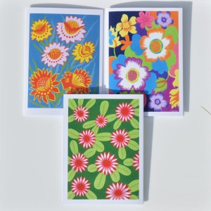 Fair Trade Cards Indian flowers – pack of three – CPif