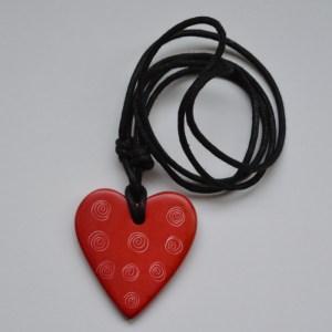 red soapstone pendant