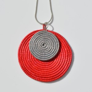 Fair Trade Sisal pendant red/grey – JPSrg