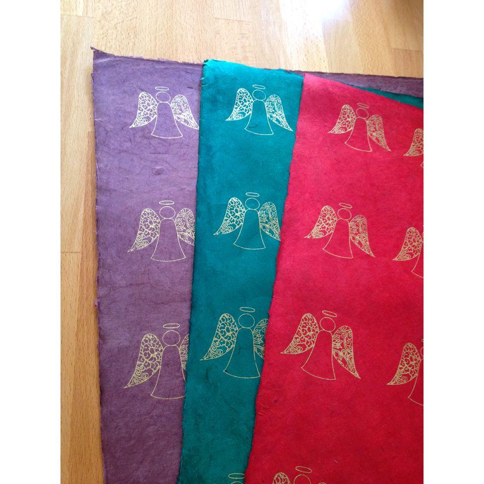 Fair Trade Christmas Angel Wrapping Paper 199 Fair