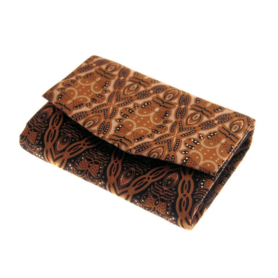 Fair Trade Batik Purse Black And Gold 299 Fair