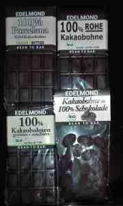 Edelmond Schokolade 3 x Tafel und Kakaobohne Paket