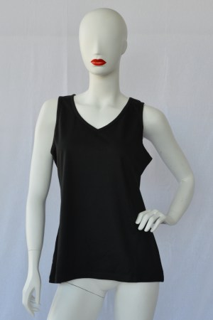 fair trade organic cotton vest top black
