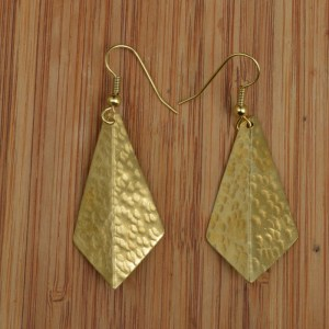 brass 3d earrings