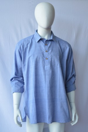denim blue fair trade men's shirt