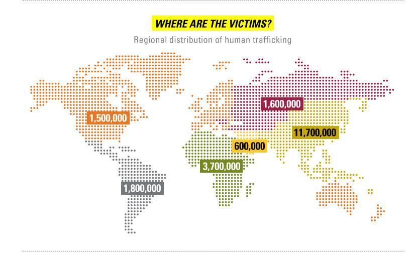 human trafficking map