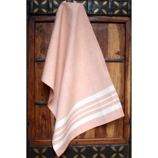 kitchen towel tangerine