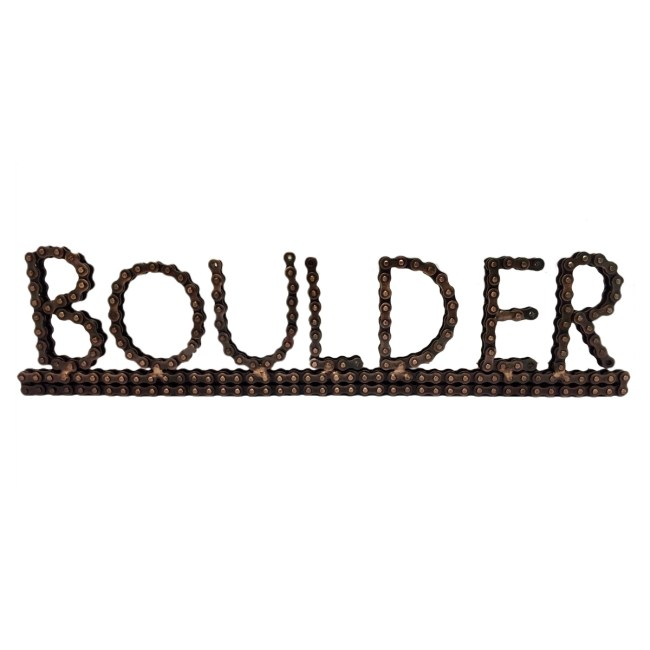 boulder bicycle chain art