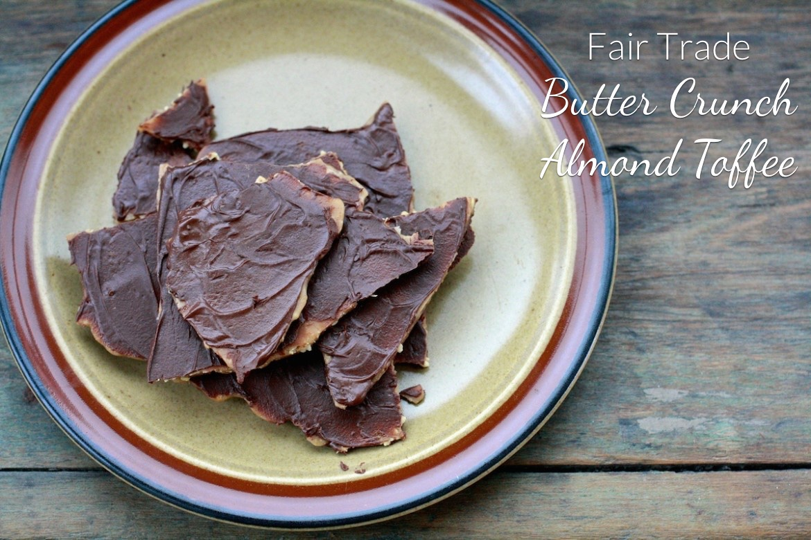 fair trade butter crunch almond toffee
