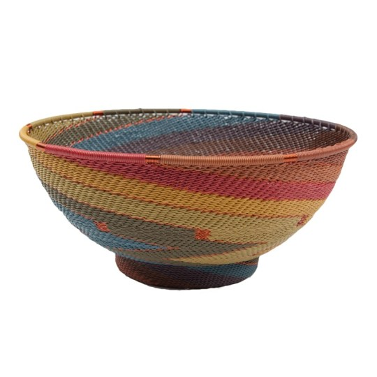 telephone wire bowl painted desert