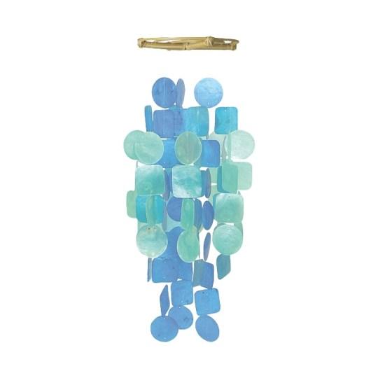 blue turq capiz chime medium