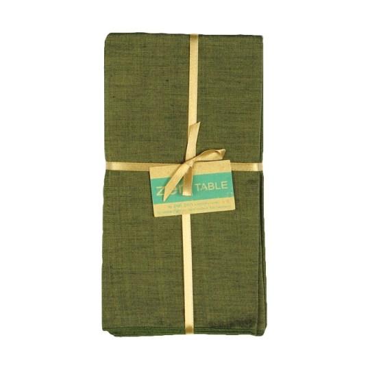 olive green cotton endek napkins