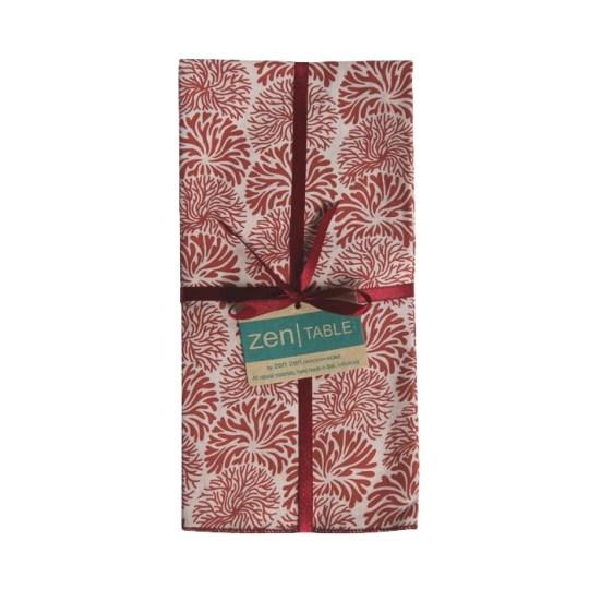 retro coral tumbleweed napkins