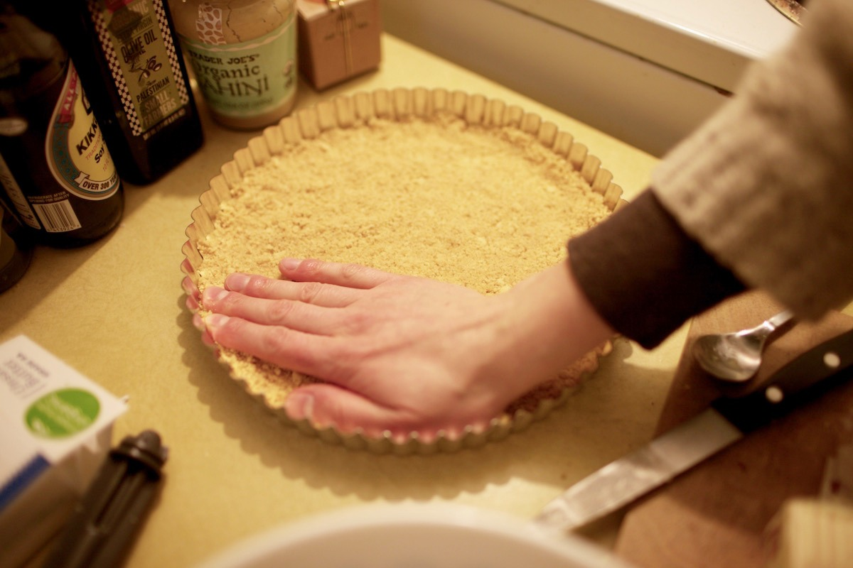 pressed cookie crust