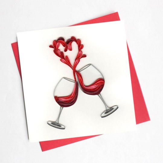 A toast to love card