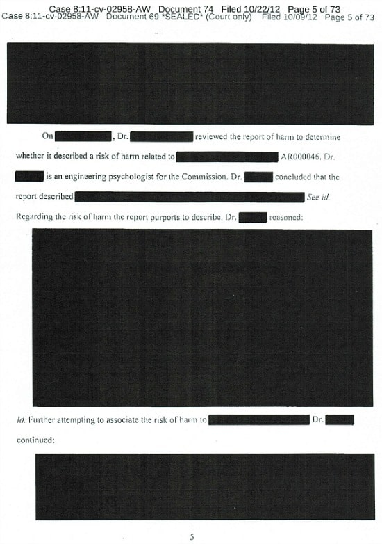 A page from the judge's opinion.