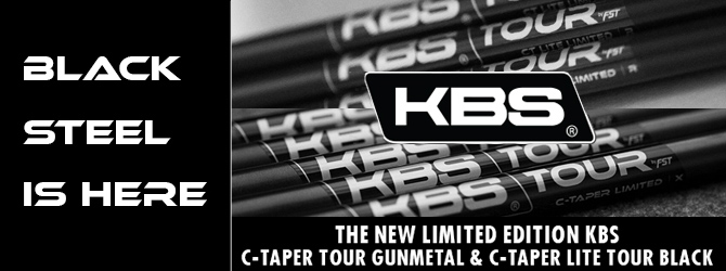 KBS Limited Edition C-TAPER Black Iron Shafts