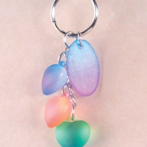 Colorful Multi-Heart Key Ring   7-1552