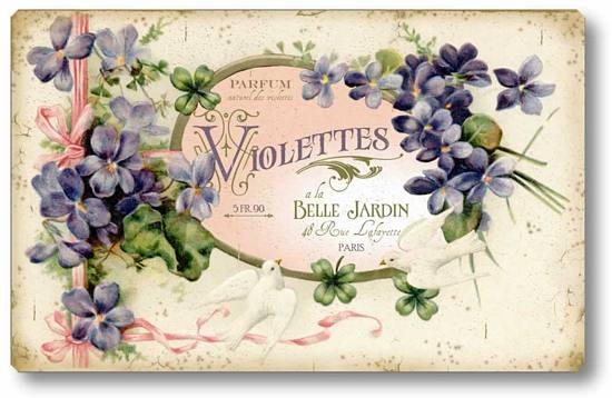 French Perfume Label Wall Plaque