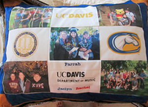 Jaclyn made graduation pillows for our chamber trio! Mine has a piano-key border; hers has oboes and Rachel's has french horns. :D