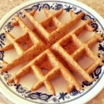 Almond Waffles with Orange Honey Syrup